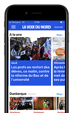 Application la Voix du Nord Mobile