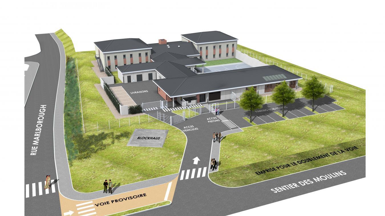 Le Centre Sera Situé Au Nord-ouest De La Commune De St-Martin Boulogne