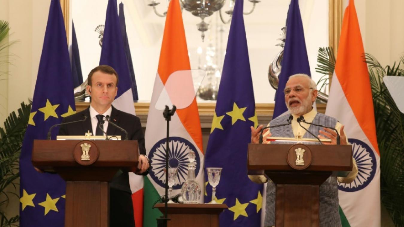 Des contrats signés pour 13 milliards d'euros — Macron en Inde