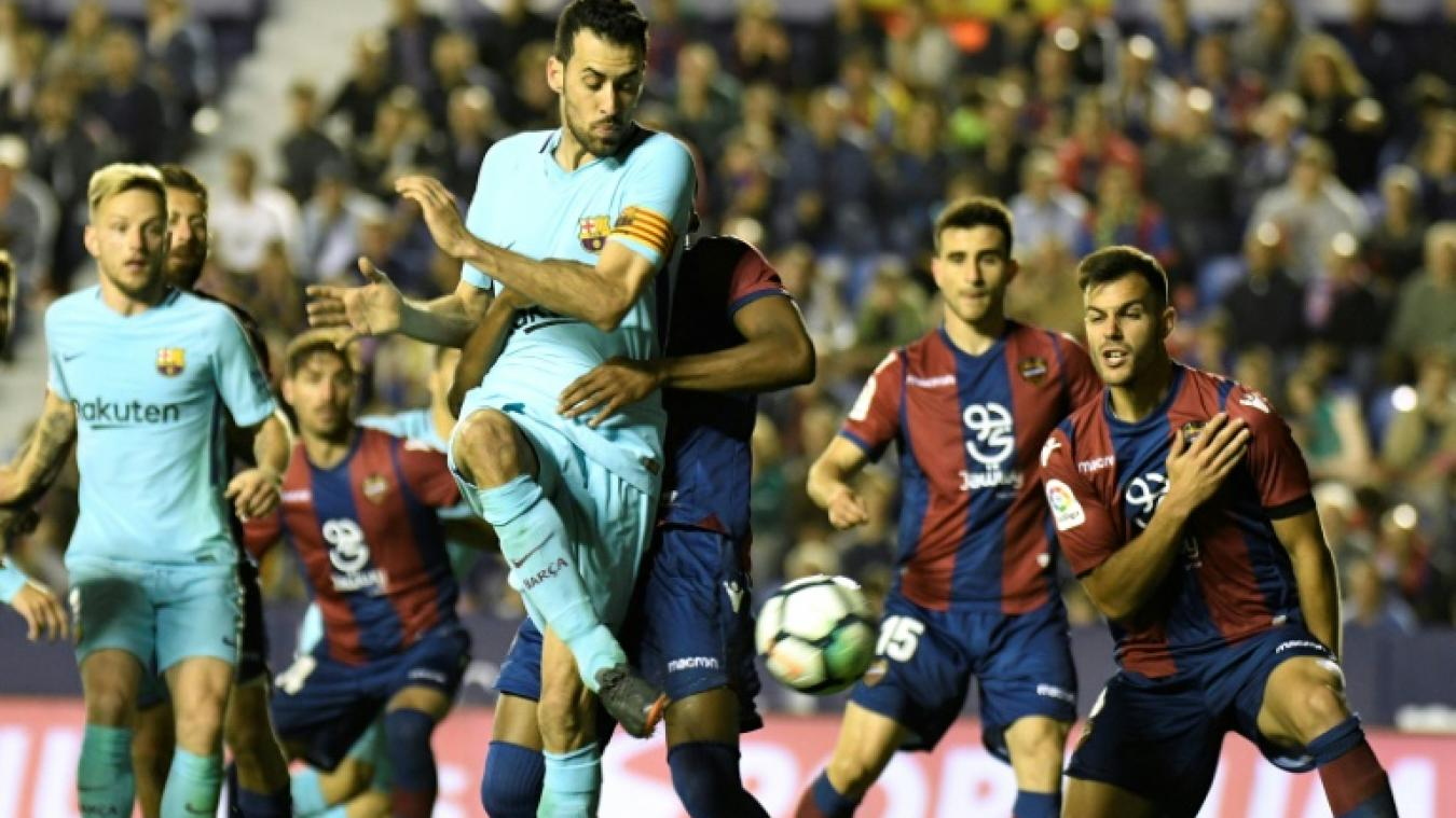 Le groupe du Barça pour le déplacement à Levante