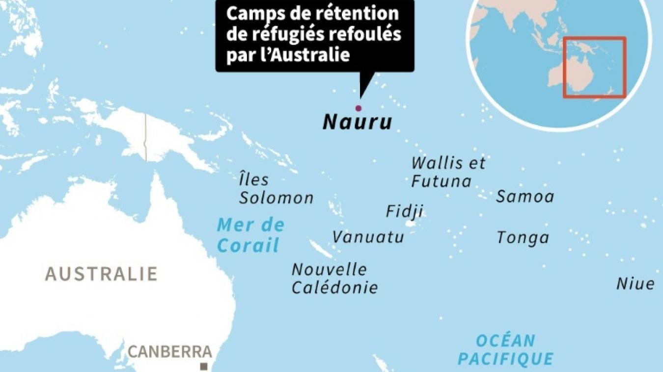 Carte Australie Et Iles Fidji.L Australie Va Evacuer Tous Les Enfants Migrants De Nauru