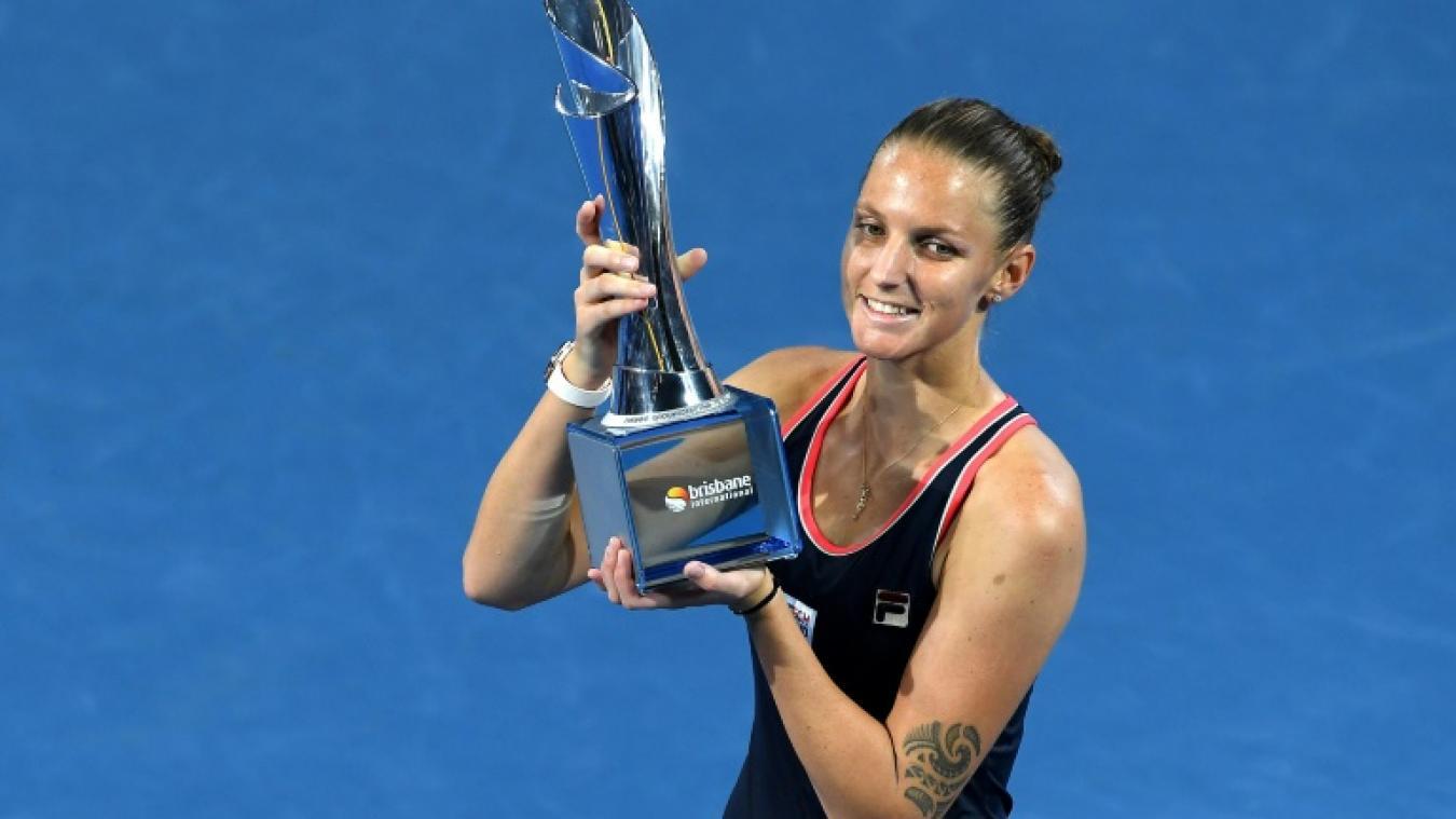 Lauréate en 2017, Karolina Pliskova récupère ses lauriers en 2019 — WTA Brisbane