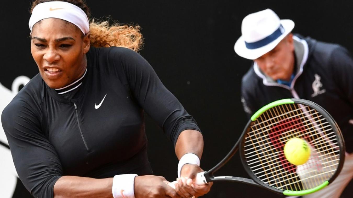 2a27e27ddd Tennis: Serena Williams passe sans problème à Rome