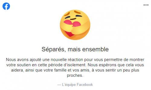 Confinement Facebook Deploie Une Nouvelle Emoticone Solidaire Pour Se Faire Des Calins A Distance