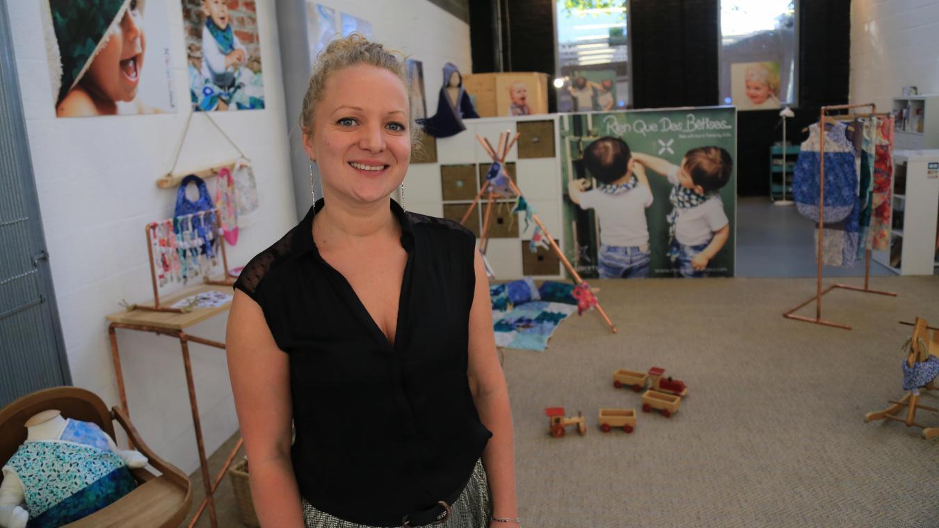 Justine Durot, créatrice de la marque pour bébés « Rien que des Bêtises ». 09bb3dde5a1