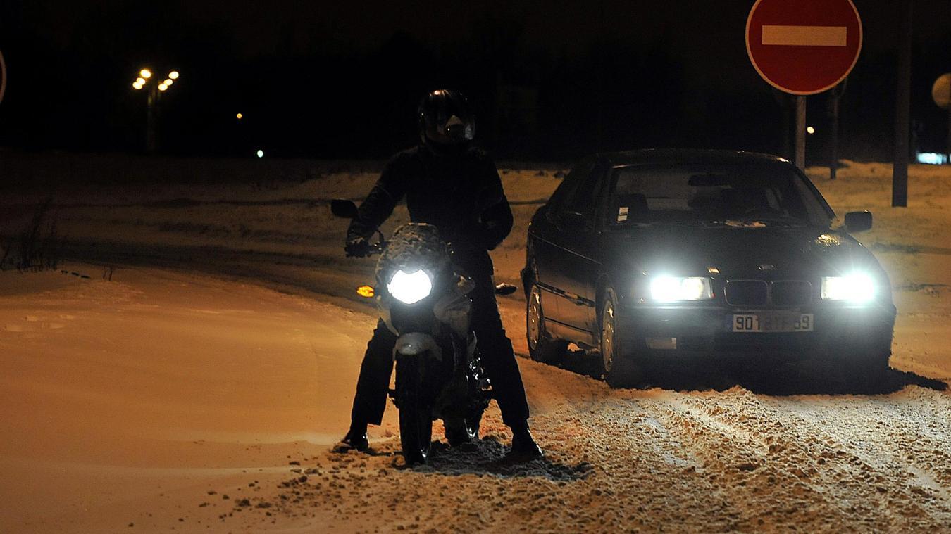 Conduire moto en hiver
