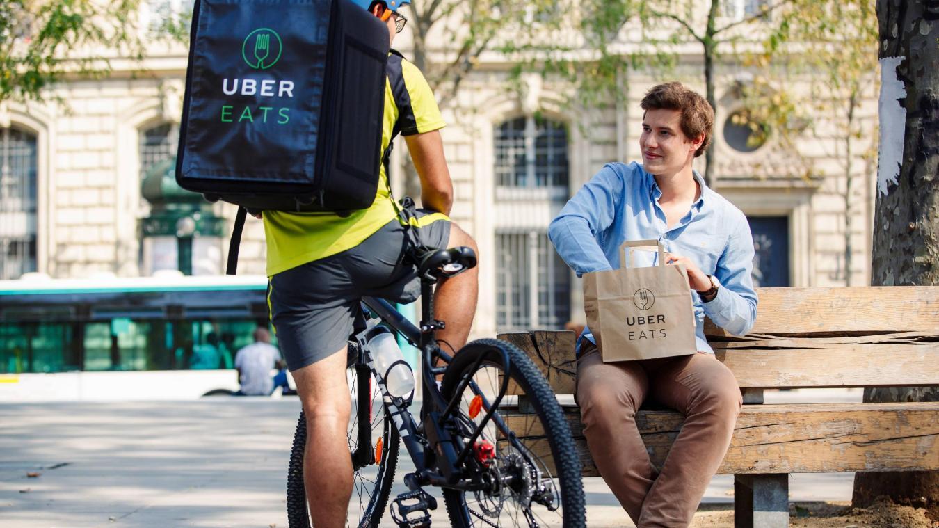 LILLE : Uber se lance sur le marché de la livraison de repas à domicile dès  jeudi