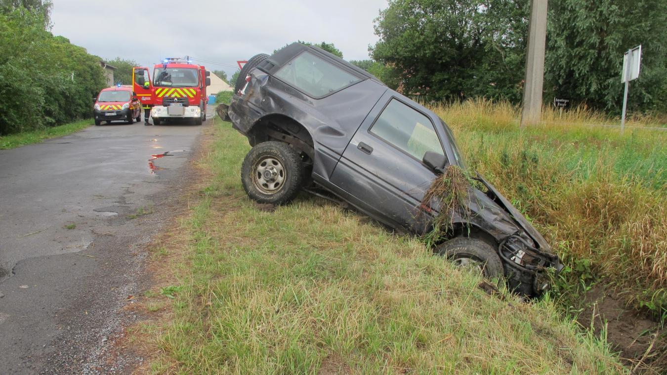 Rue du Bas-Chemin sud, la voiture s est retrouvée le « nez d6b9faed5989
