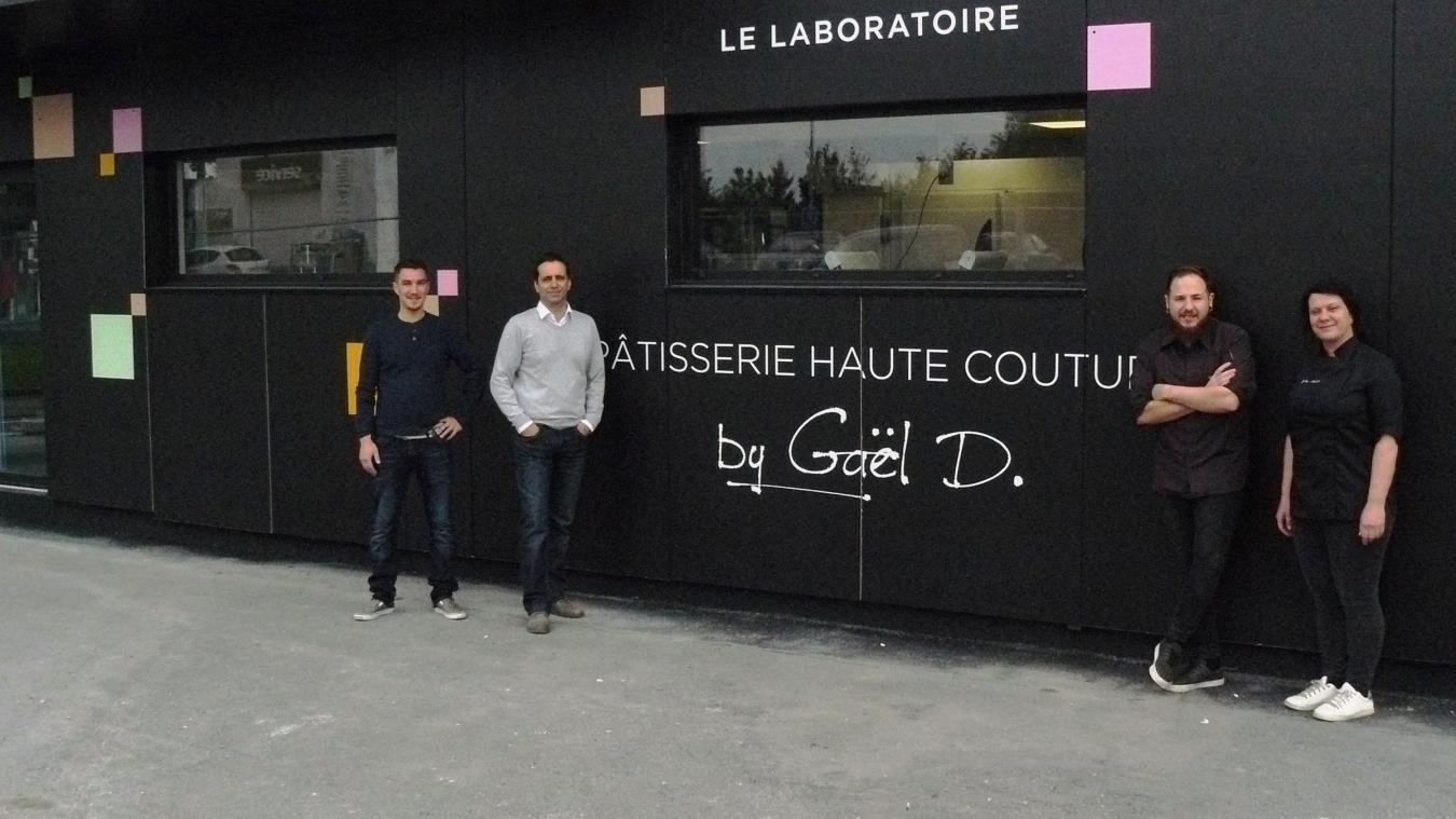 Alban, Gaël, Cedric et Audrey fin avril alors que la pâtisserie devait  ouvrir Photos archives , VDN