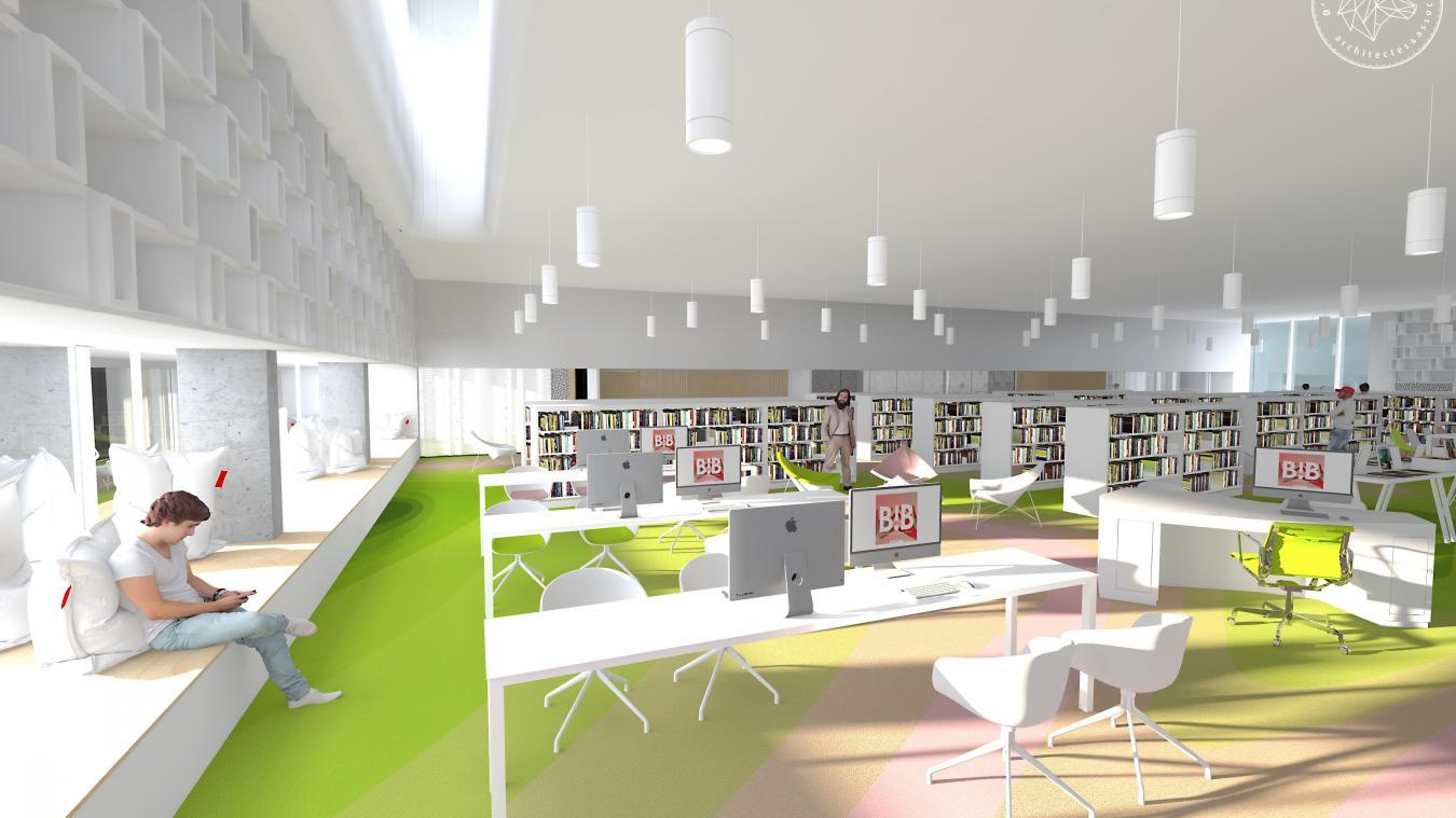 Au Cours Des Prochains Mois Le Quartier Du Th Tre Va Poursuivre  # Construire Sa Bibliotheque