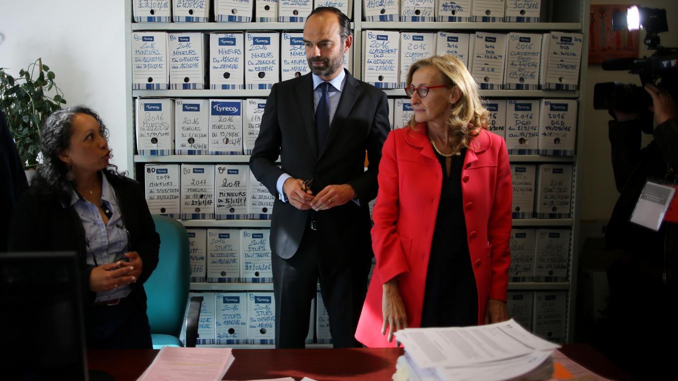 6dc447fd3b3 Le Premier ministre Édouard Philippe et la garde des Sceaux Nicole  Belloubet