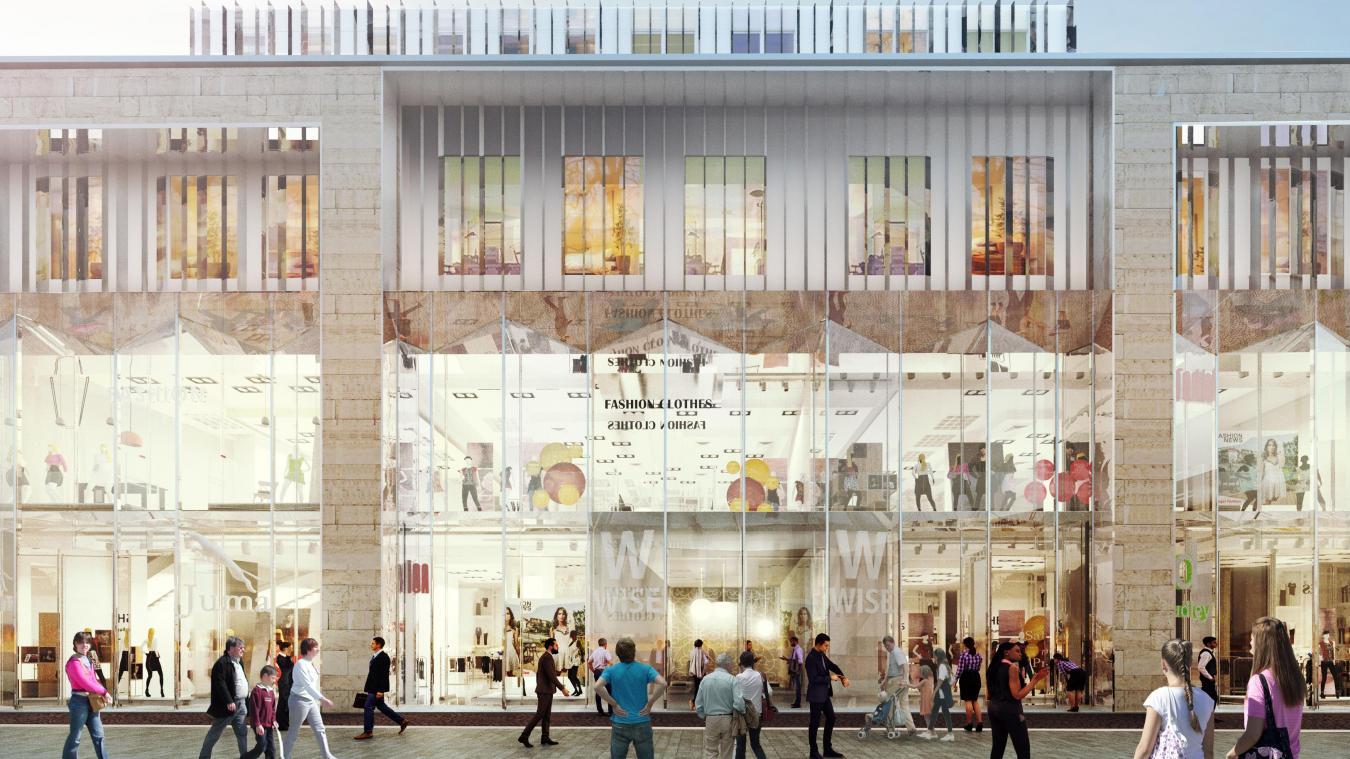 Lille: À la place des ex galeries lafayette il y aura un hôtel et