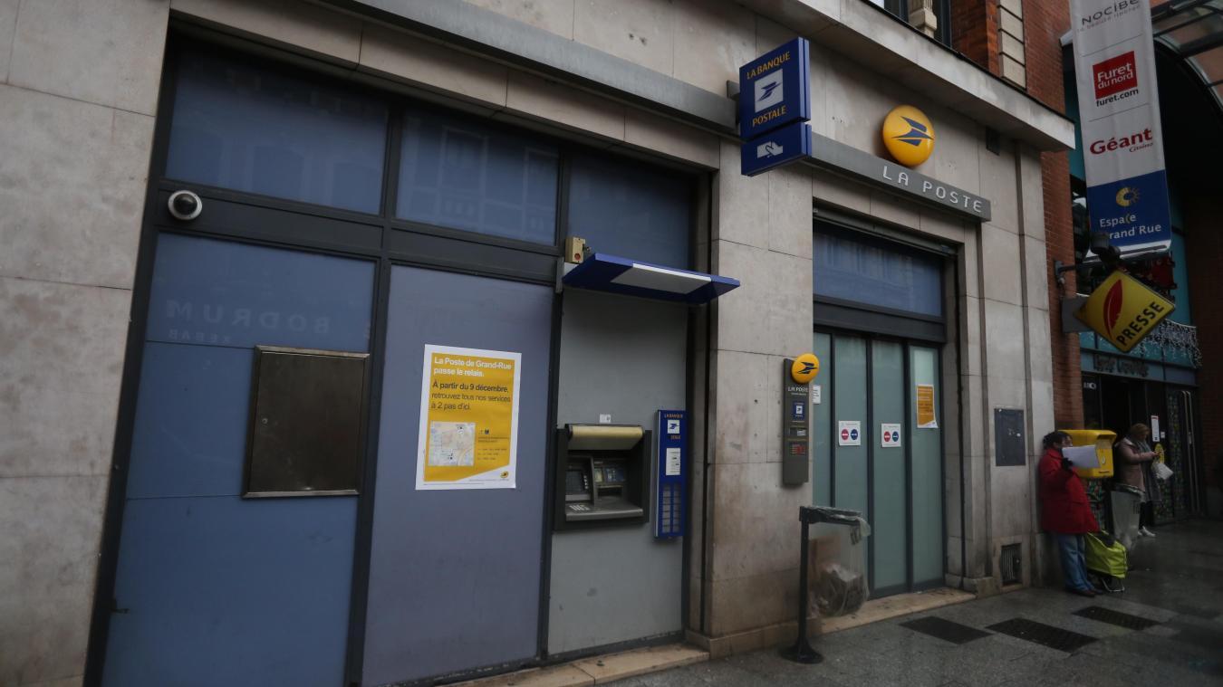 Roubaix: le bureau de poste de lespace grandrue a fermé