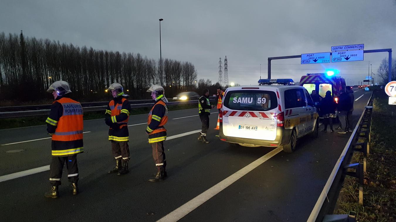 Les faits se sont déroulés sur l'autoroute A16, dans le sens Belgique - France. [Photo Marc Demeure]