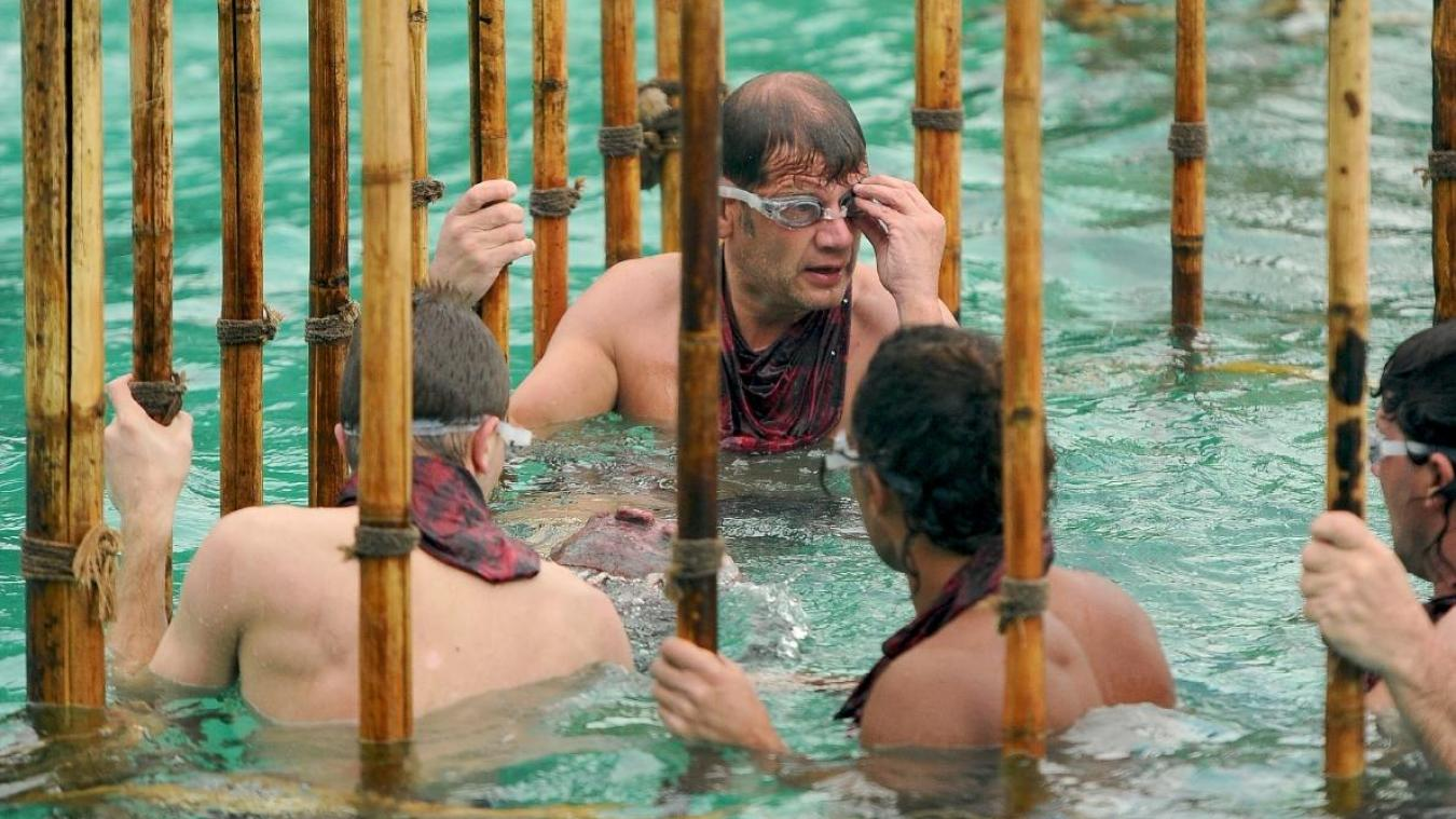Olivier lors de l'épreuve des cages en 2011 dans Koh Lanta- Raja Ampat