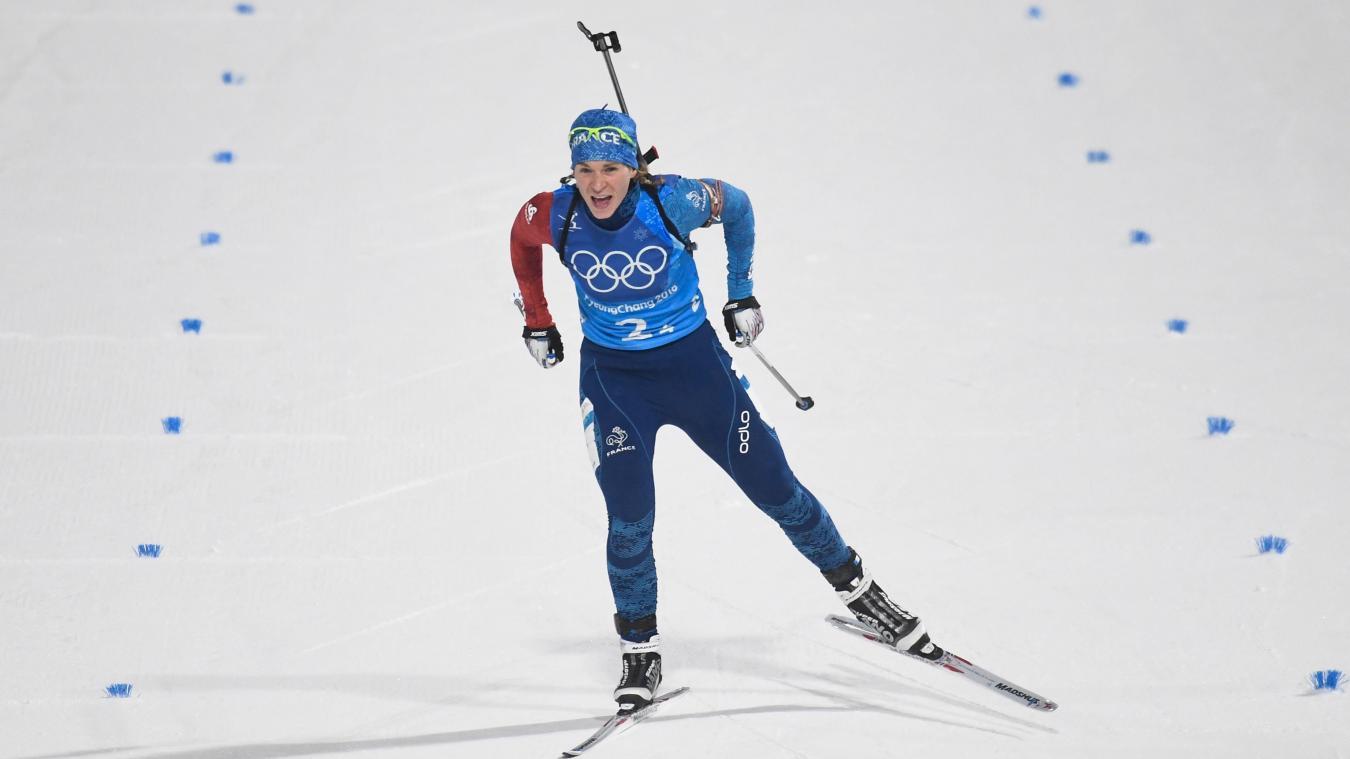 Anais Bescond dernière relayeuse a amené le bronze à l'équipe de France