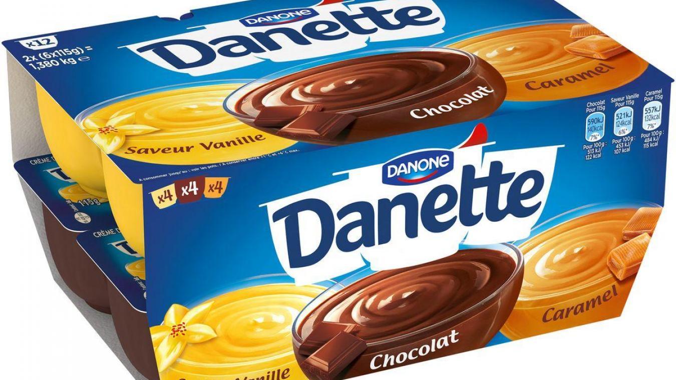 Danone rappelle des lots de Danette dans les Hauts-de-France