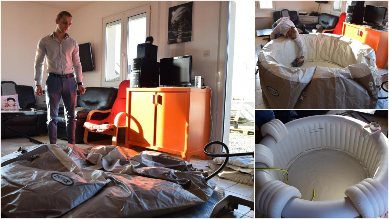 Quoi Mettre Sous Un Spa Gonflable ecques insolite: il se propose d'installer un spa éphémère