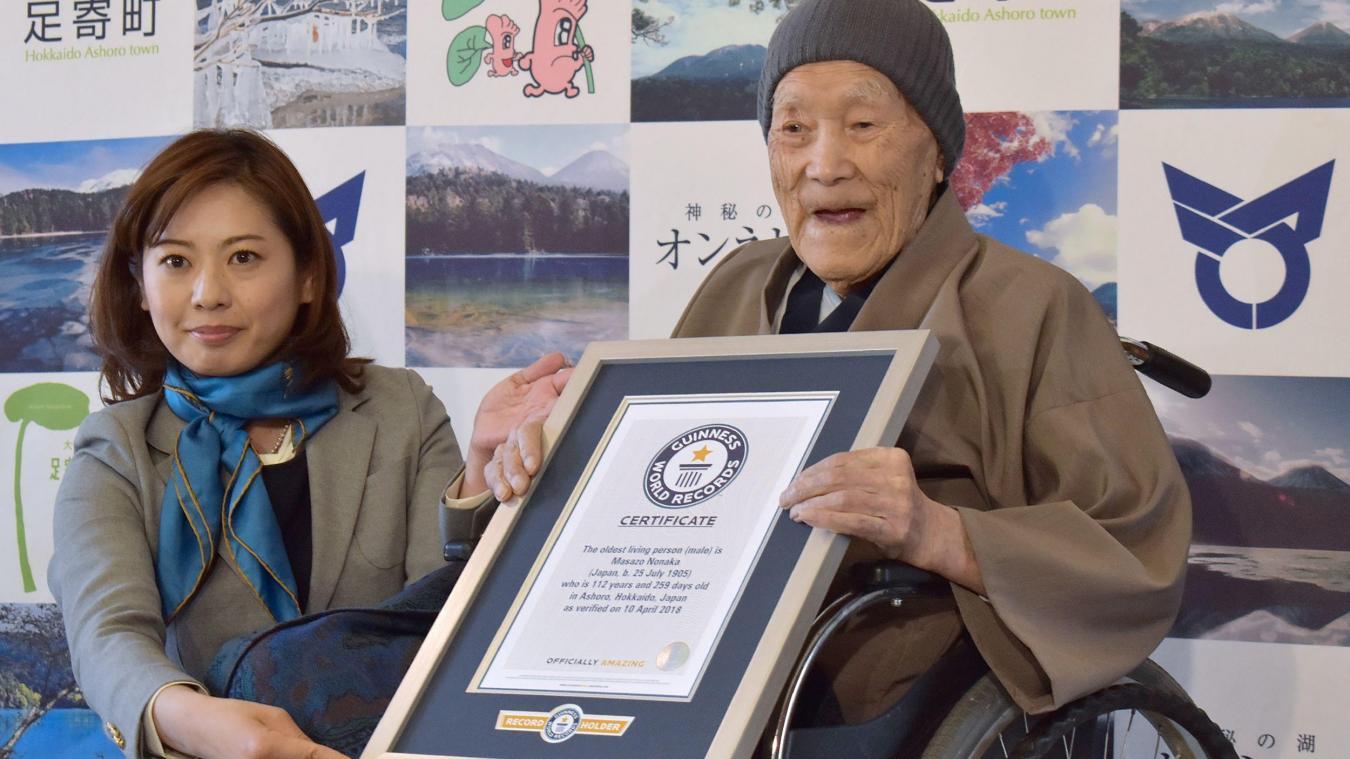 Le doyen de l'humanité est âgé de 112 ans
