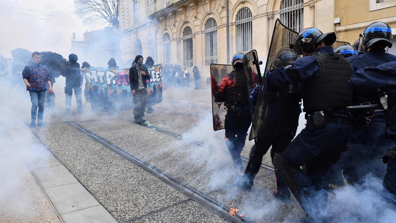 Manifestation à Montpellier : de violents affrontements et des commerces saccagés