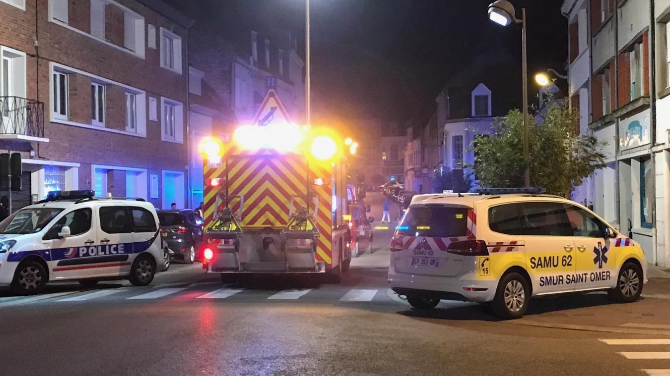 Un homme, circulant à pied, a été percuté volontairement par une voiture, rue d'Arras à Saint-Omer.