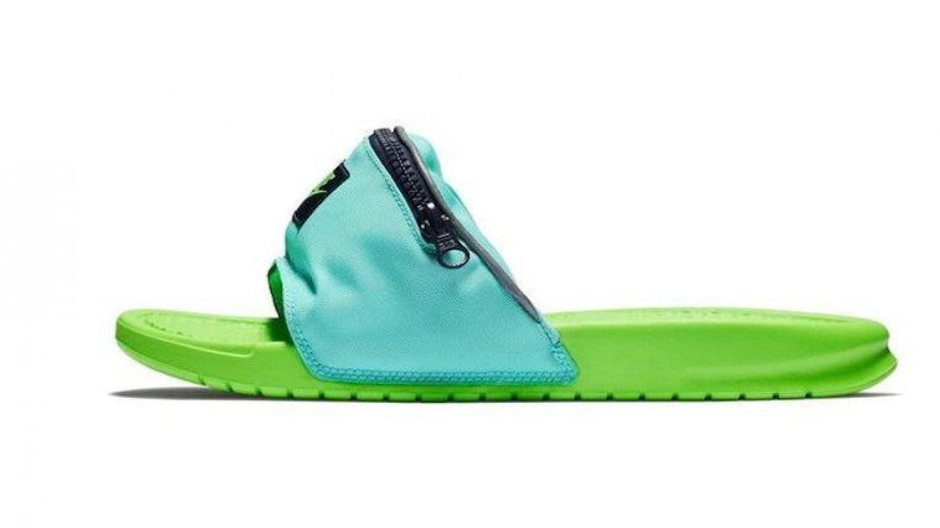 Mode  Nike ose la claquette banane, une combinaison étonnante 7d0b5d8f58f6