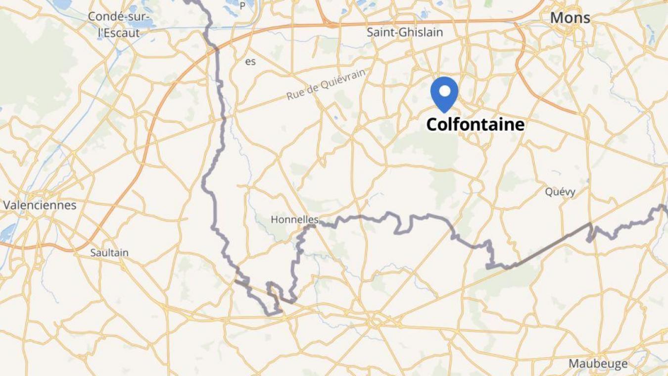 L'accident s'est produit à Colfontaine à une dizaine de kilomètres de la frontière. MAPHUB