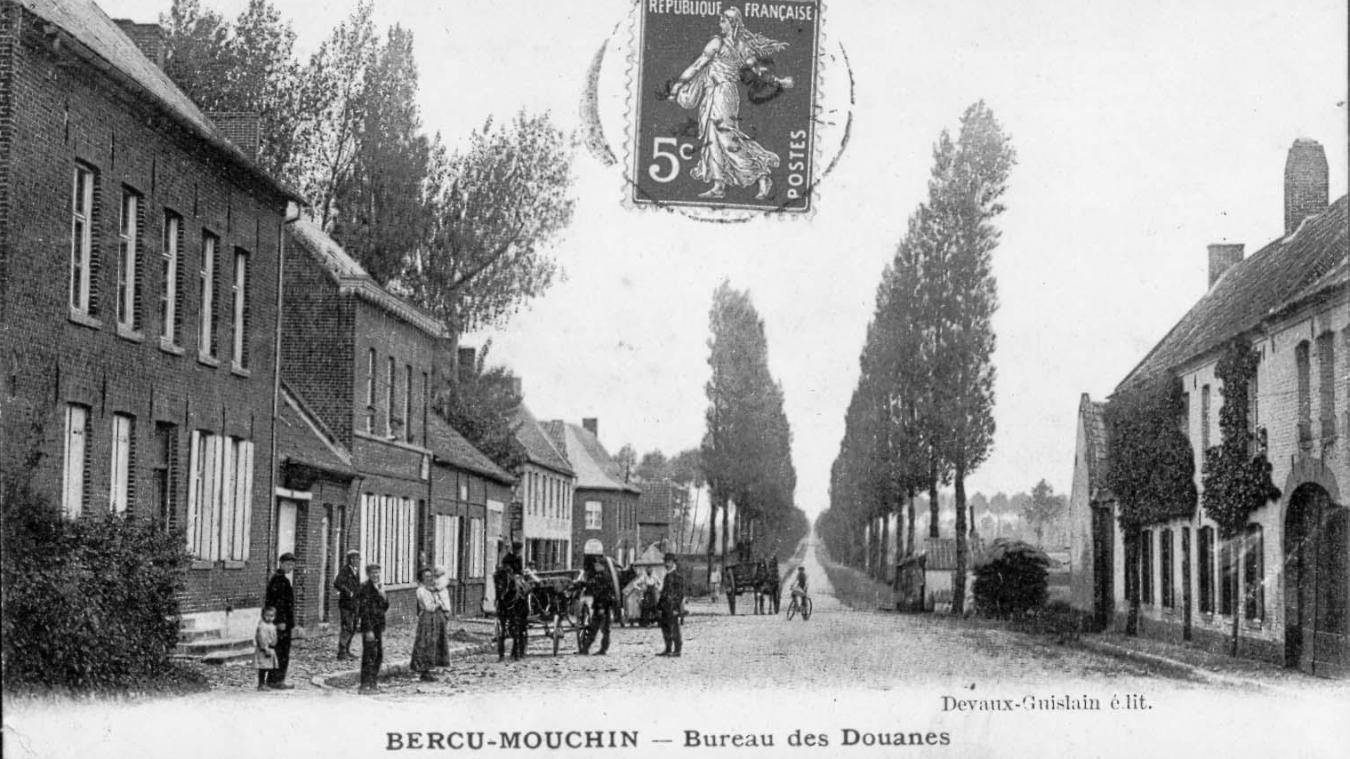 Mouchin avant après au hameau de bercu le long de la route vers
