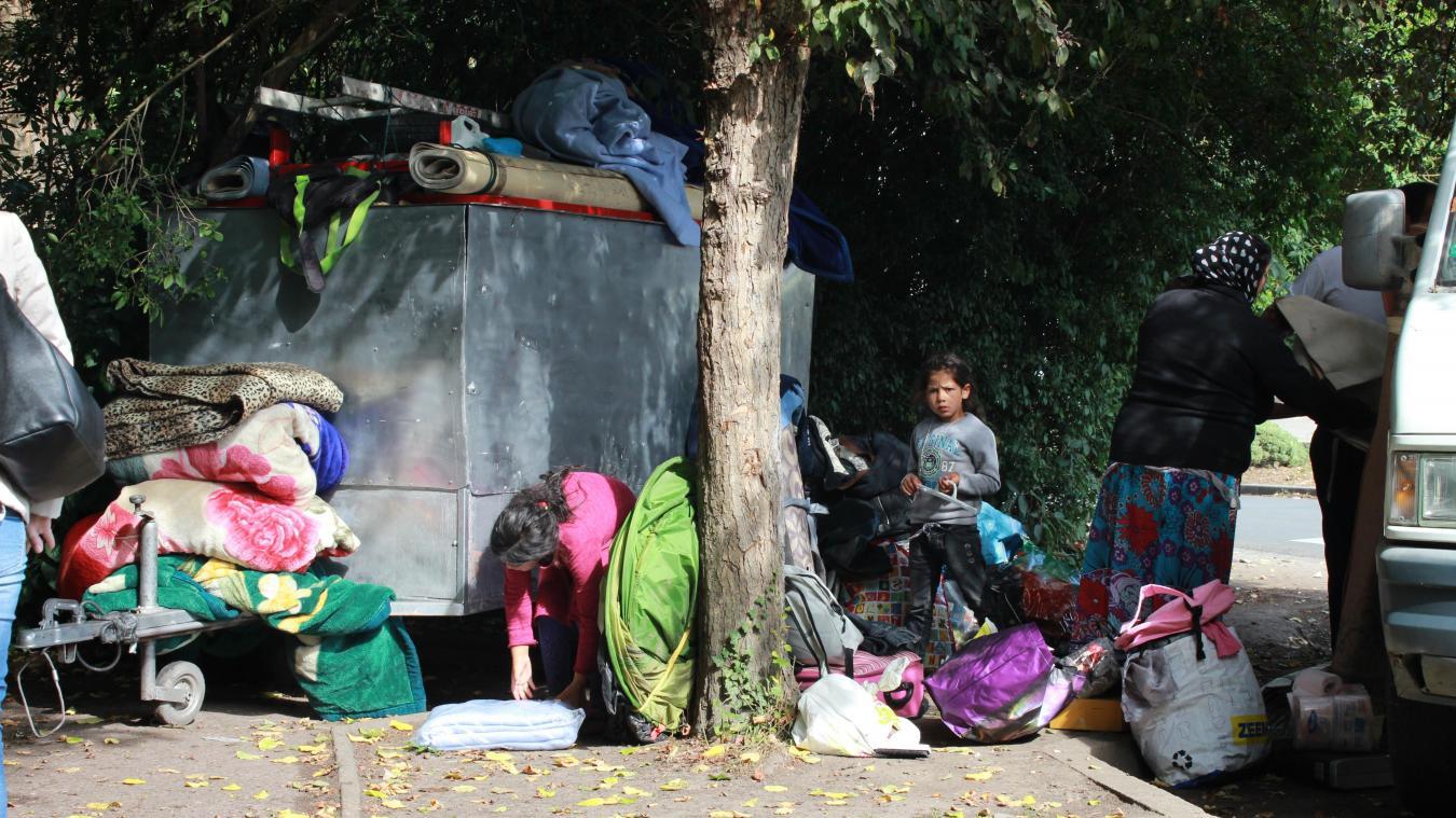Les Restas ont été expulsés mercredi dernier du campement de fortune où ils vivaient, dans le quartier du Recueil à Villeneuve-d'Ascq. Ph. Archives