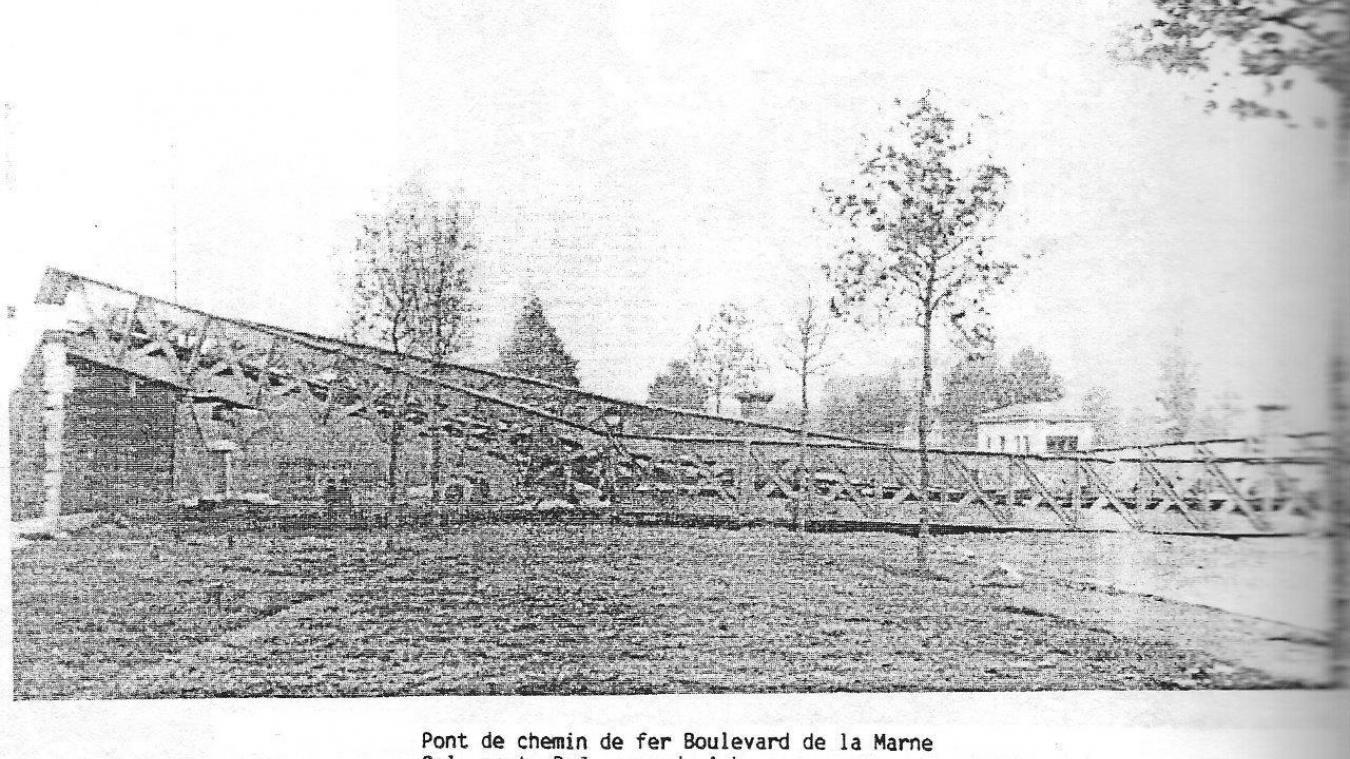 Le pont de chemin de fer boulevard de la Marne a été entièrement destruit. 110be9f3559