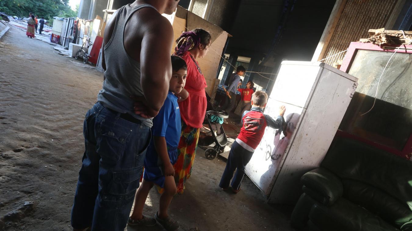 Sous pression, le camp de Roms de la rue de Bavay a été évacué le 27 juillet dernier. PHOTO BAZIZ CHIBANE LA VOIX DU NORD