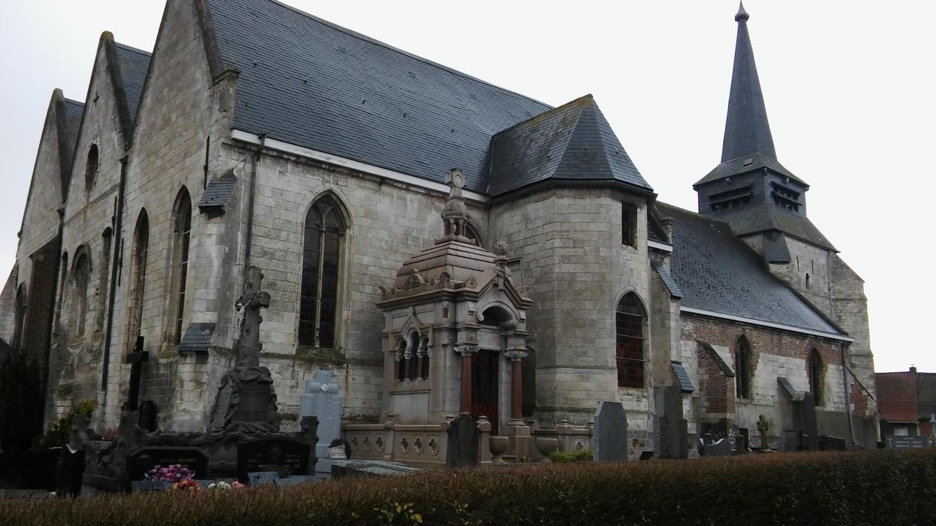 L'église de Thiennes compte parmi les 4 sites retenus dans la région pour le loto du patrimoine.- VDN