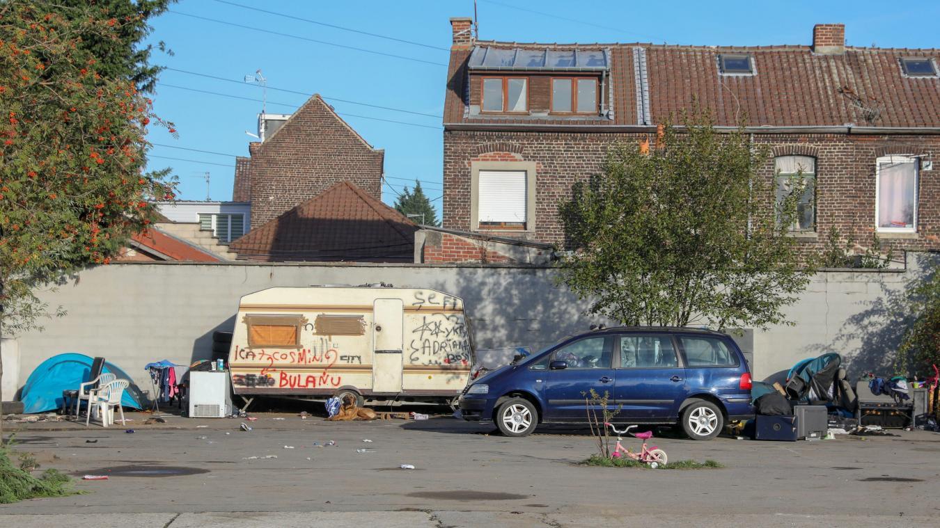 Le collectif rom de Roubaix et environs indique que le campement situé au plus proche des habitations de la rue du Plaisir sera déplacé prochainement. Photo Thierry THOREL