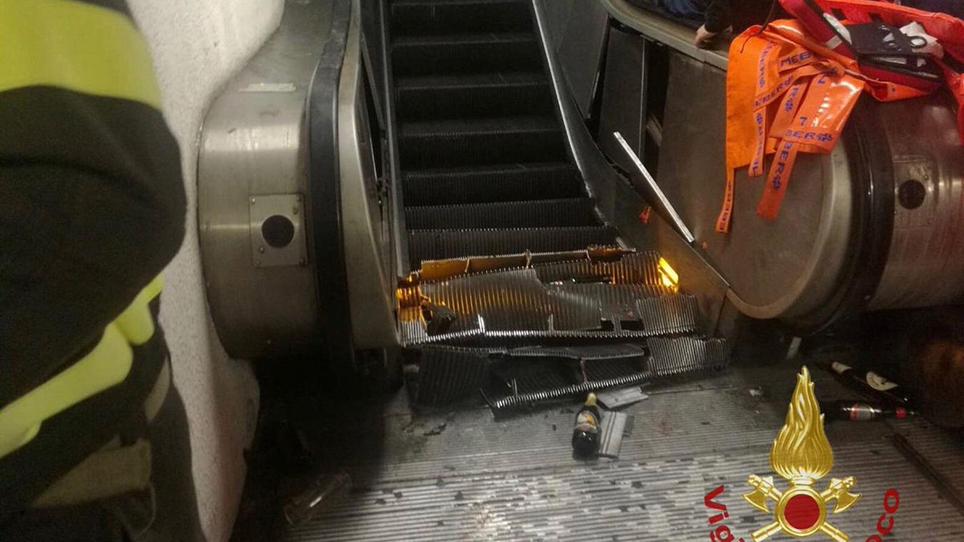Accident d'escalator à Rome
