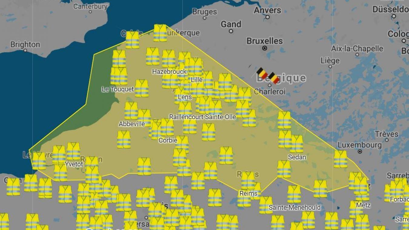 carte blocages 17 novembre Manifestations Hausse des carburants, la carte des blocages des