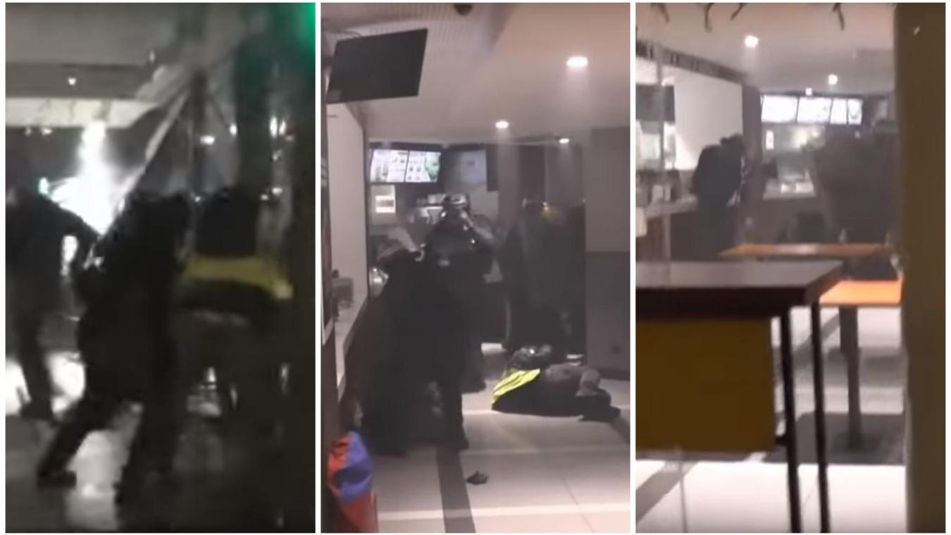 Paris: Des CRS ont matraqué des Gilets jaunes en plein milieu d'un Burger King