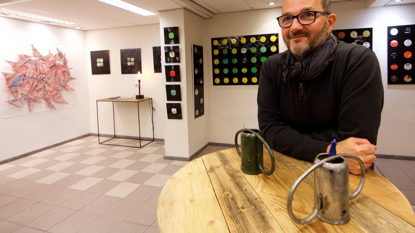 b6040fbdfd L'artiste Gast'Bey expose ses œuvres pour un mois boulevard Jacquard. PHOTO