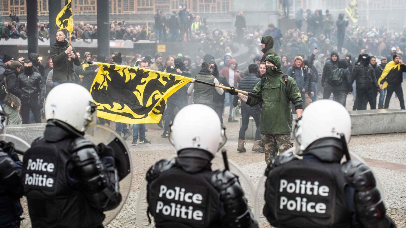 Bruxelles. Manifestation tendue contre le Pacte mondial sur les migrations