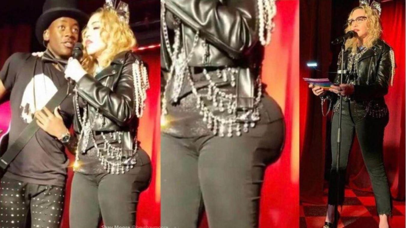 Son nouveau et imposant fessier choque la toile — Madonna