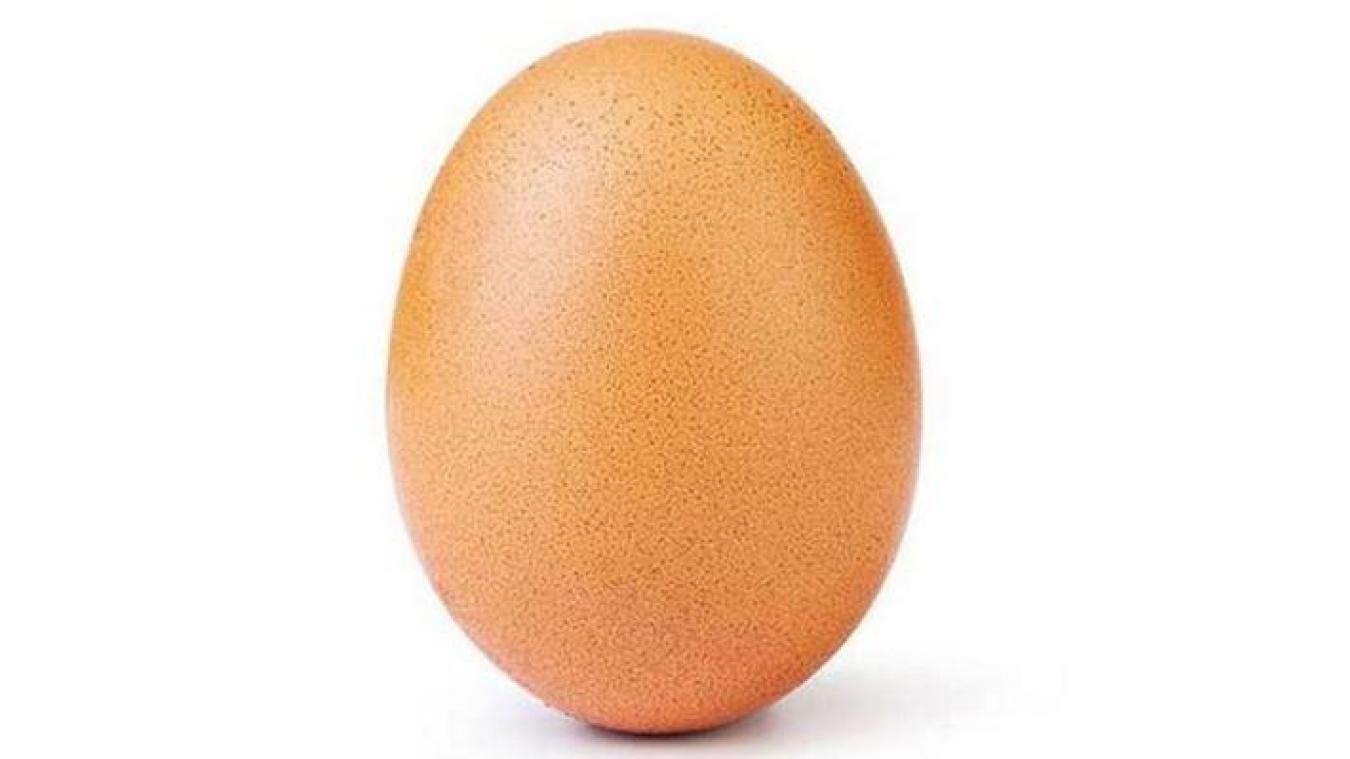 5e89ea7e85f Record  Une simple photo d œuf récolte 28 millions de mentions « j ...