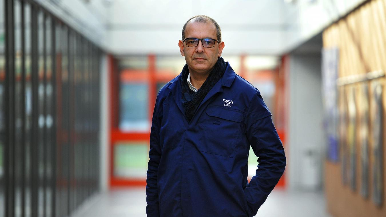 Frédéric Puech est arrivé à Hordain mi-janvier, après avoir passé ces trois dernières années à la tête du pôle industriel ibérique de PSA. Photo Thomas Lo Presti