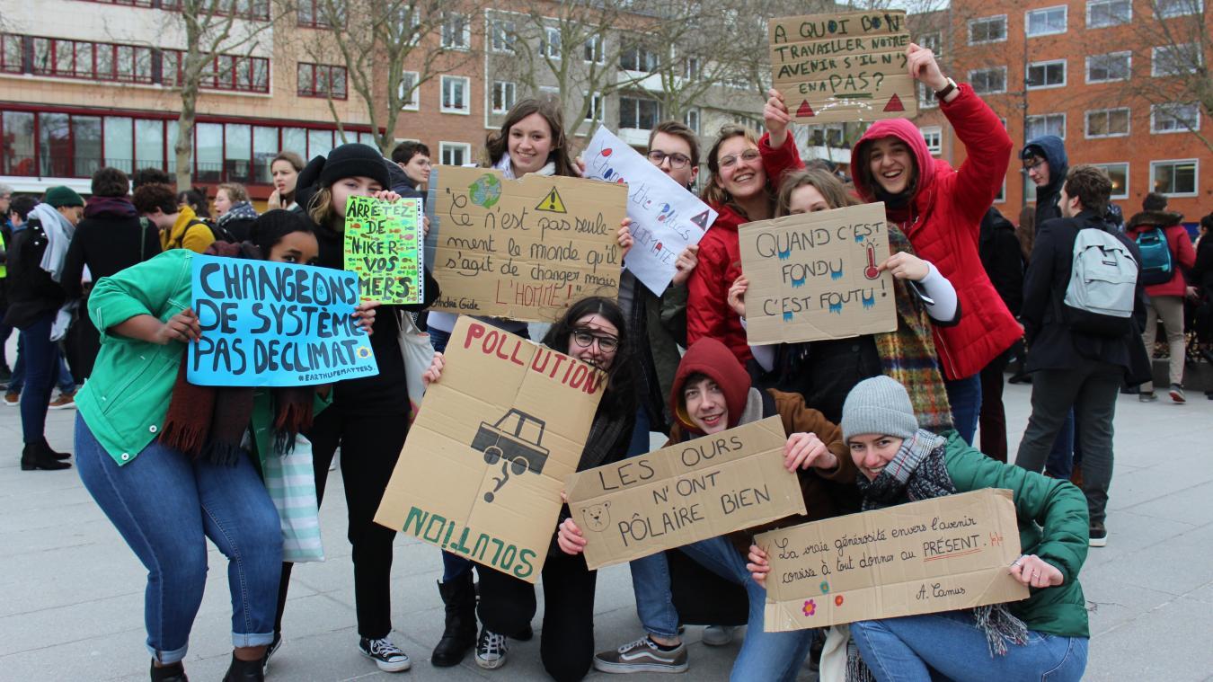 7f455c9de05 Dunkerque  Plus de 70 lycéens ont manifesté à Dunkerque pour le climat