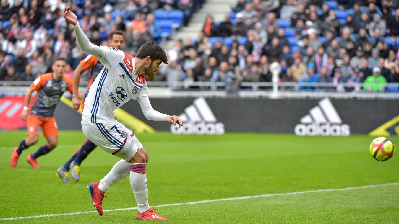 L'ancien Lillois Martin Terrier a ouvert la marque pour l'OL face à Montpellier au Groupama Stadium