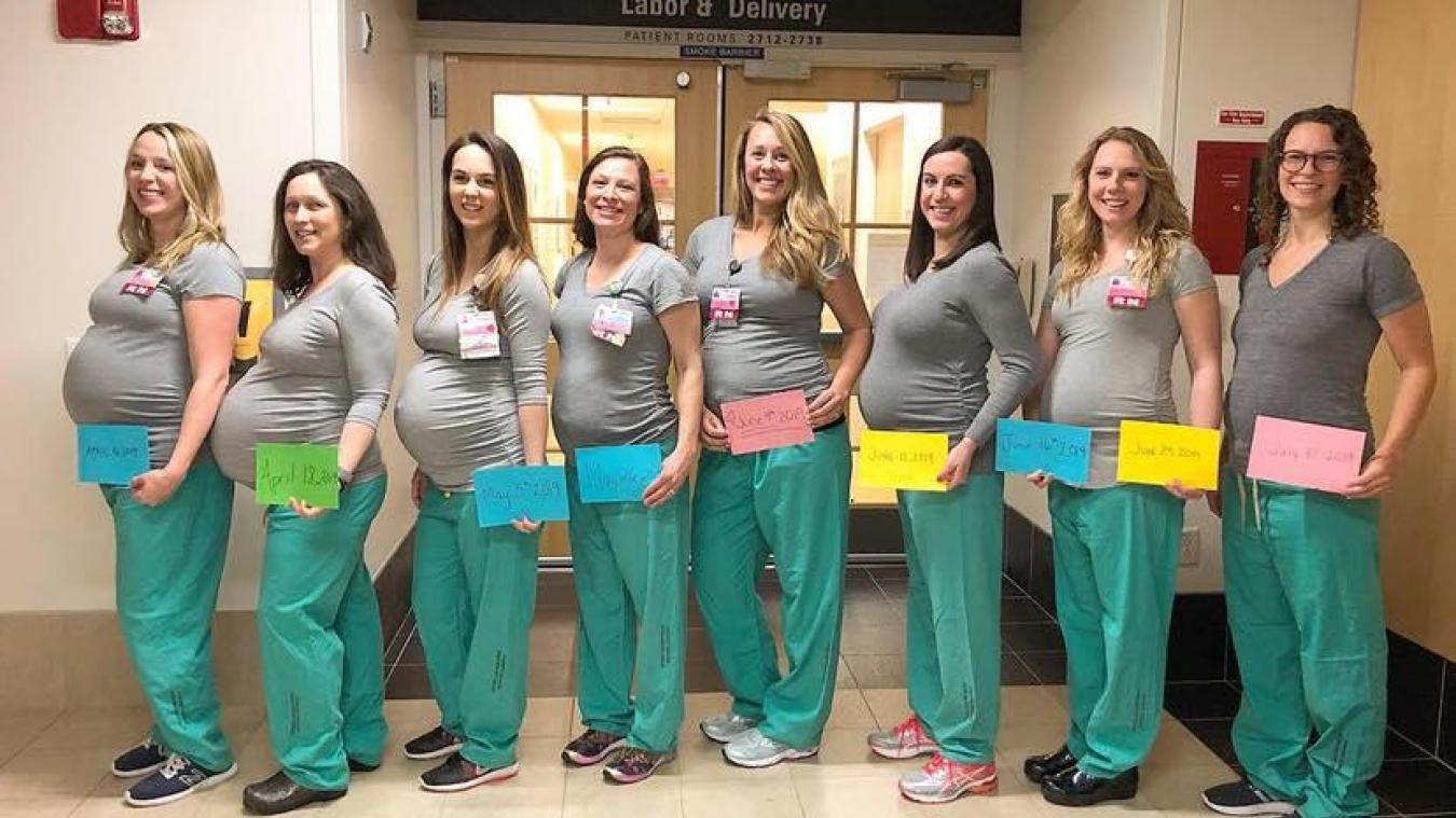 L'incroyable histoire de ces 9 infirmières enceintes en même temps