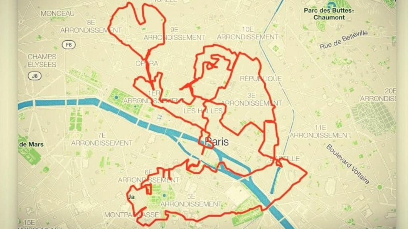 Il dessine Quasimodo en courant 39 km dans les rues de Paris