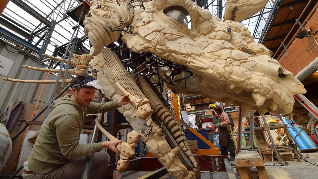 Atelier De La Cuisine Nantes photos : découvrez les coulisses de la création du dragon de