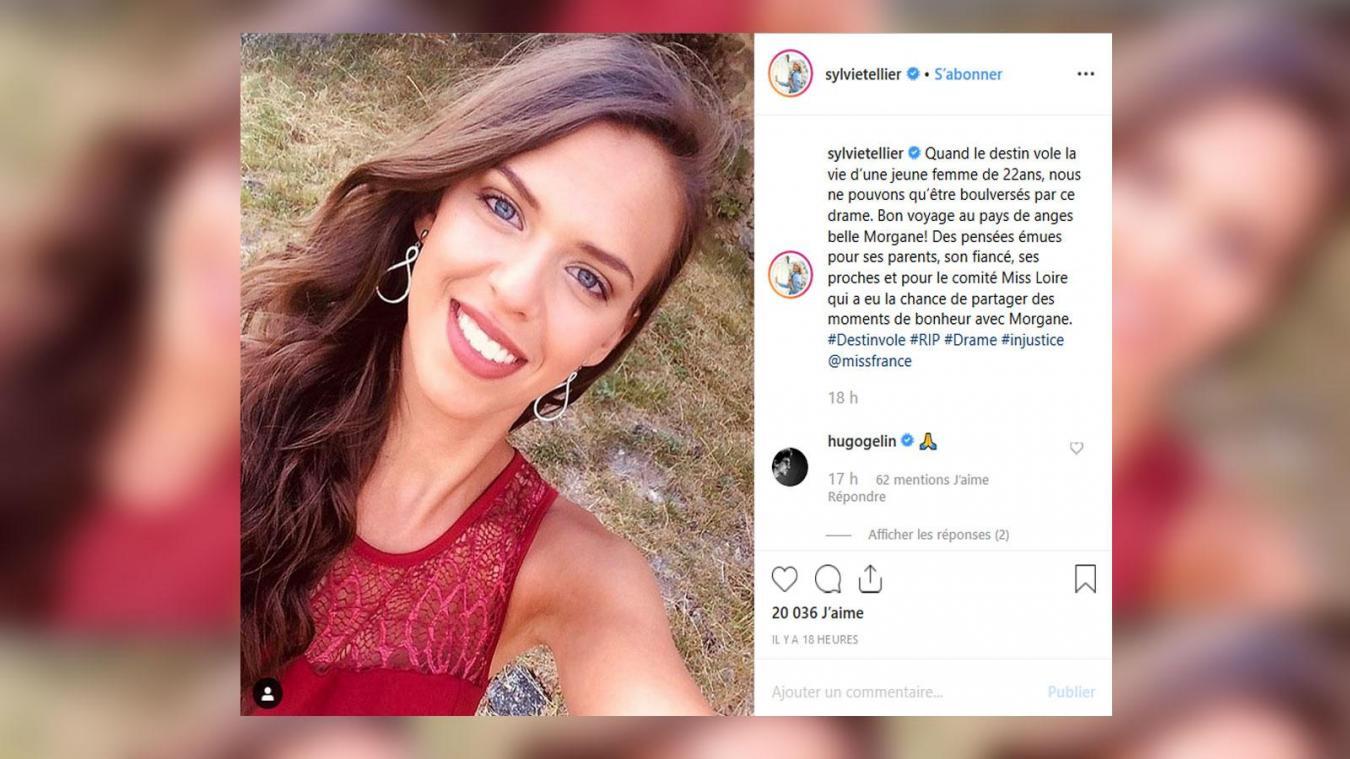 Sylvie Tellier rend hommage à une jeune miss disparue à 22 ans