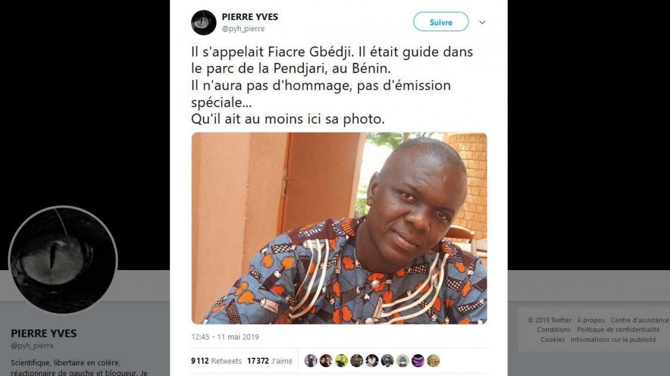 Les internautes rendent hommage au guide béninois assassiné — Otages au Sahel