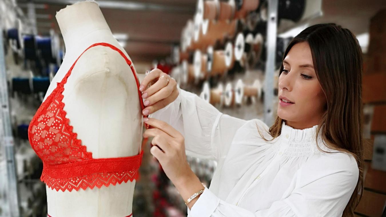 4de27e851 Camille Cerf a conçu une gamme de lingerie en dentelle fabriquée à Calais.  PHOTO REPRO