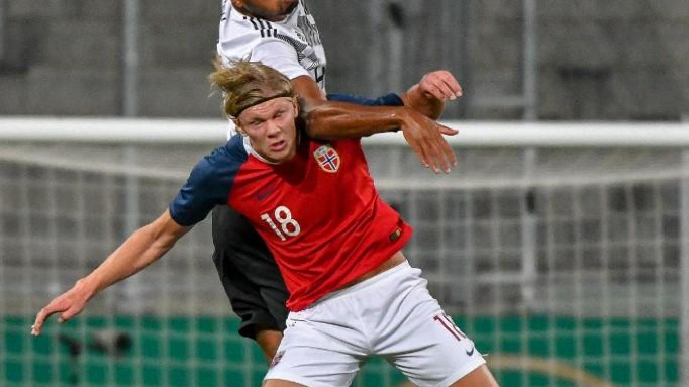 acheter populaire 25f41 ad182 Foot Le jeune attaquant norvégien Erling Haland marque 9 ...